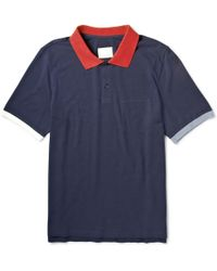 Band Of Outsiders Contrasttrim Cottonpiquã Polo Shirt - Lyst
