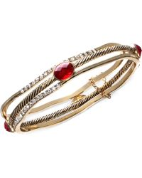 Jones New York - Trio Bangle Bracelet Set - Lyst
