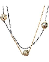 Todd Reed - Tahitian Pearl And Black Diamond Station Necklace - Lyst