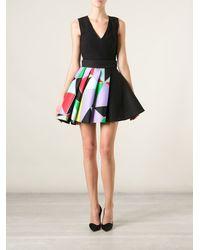 Fausto Puglisi Geometric Print Flared Dress - Lyst