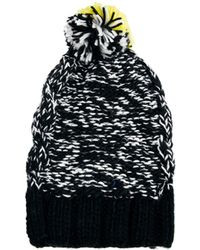 Pull&Bear - Knitted Cord Fluro Touch Hat - Lyst