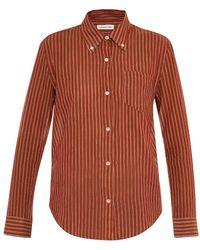 Etoile Isabel Marant Ulia Striped Cotton Shirt - Lyst