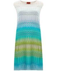 Missoni Striped Crochet-Knit Shift Dress multicolor - Lyst
