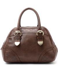Gucci Brown Leather Handbag - Lyst