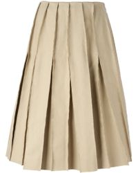 J.W. Anderson Reverse Seams Pleated Skirt - Lyst