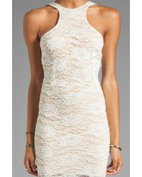 Donna Mizani Passion Cut Out Dress in Ivory - Lyst