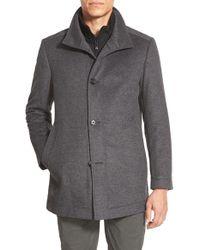 BOSS | 'coxtan' Trim Fit Wool Car Coat | Lyst
