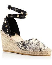 Ash Platform Espadrille Wedge Sandals - Winnie Studded gray - Lyst