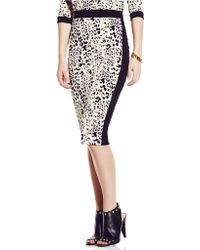 Vince Camuto Leopard Printed Pencil Skirt - Lyst