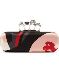 Alexander McQueen Printed Knuckle Box Clutch Bag - Lyst