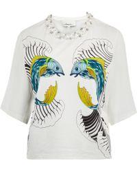 3.1 Phillip Lim White Animal Kingdom Jewelled Tshirt - Lyst