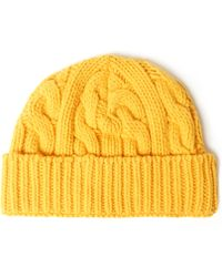 Oliver Spencer -  Cable Knit Wool-Blend Beanie Hat - Lyst