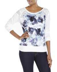 DKNY Floral Print Sweatshirt - Lyst