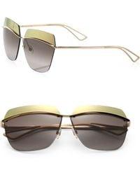 Dior Metallic 53Mm Square Sunglasses - Lyst