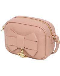 Vivienne Westwood Bow Faux Leather Shoulder Bag - Lyst