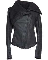 Gareth Pugh Black Denim Outerwear - Lyst