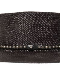 HTC Hollywood Trading Company - Straw Hat With Studded Leather Hatband - Lyst