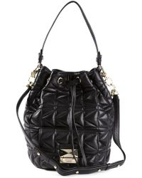 Karl Lagerfeld Quilted Bucket Bag - Lyst