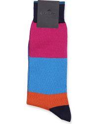 Duchamp Thick Set Stripe Socks Multi - Lyst