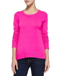 Diane Von Furstenberg Solid Cashmere Crewneck Sweater  - Lyst