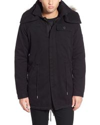 Native Youth - Fishtail Parka With Faux Fur Trim - Lyst