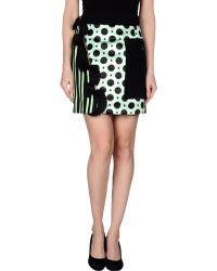 Emanuel Ungaro Mini Skirt green - Lyst