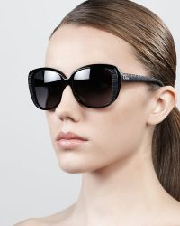 Dior Taffeta Etched Cateye Sunglasses - Lyst