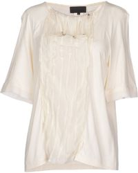 Karl Lagerfeld T-Shirt white - Lyst