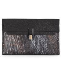 Pour La Victoire Inez Painted Snake-Embossed Leather Clutch - Lyst