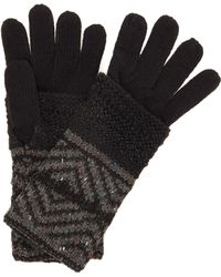 Label Lab - Double Layer Zig Zag Knit Glove - Lyst