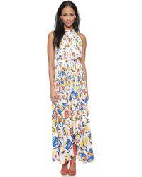 Saloni Irina Printed Dress - Chasu Yellow - Lyst
