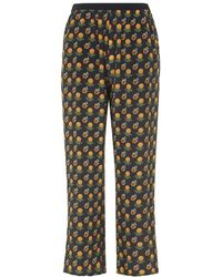 Topshop Silk Marigold Trousers By Boutique - Lyst
