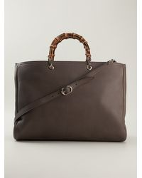 Gucci Bamboo Top Handles Shopper Tote - Lyst