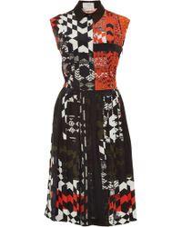 Preen Luna Printed Pleated Dress - Lyst