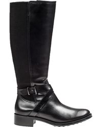 Andre Assous Seabiscuit Riding Boot Black Leather - Lyst
