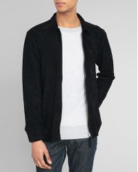 Our Legacy Black Suede Zipped Jacket - Lyst