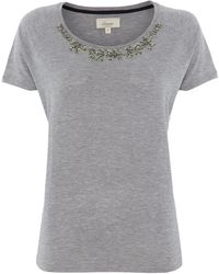 Linea Weekend Embellished Nack Tee - Lyst