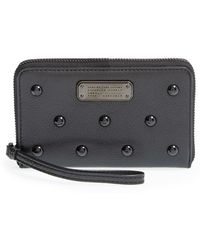 Marc By Marc Jacobs | 'new Q Studs Wingman' Leather Phone Wristlet | Lyst