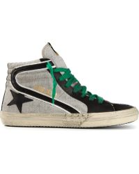 Golden Goose Deluxe Brand Slide Hi Top Trainers - Lyst