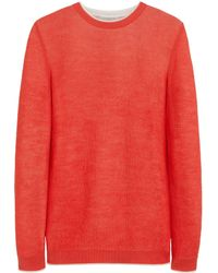 Mulberry Scribble Stitch Jumper - Lyst