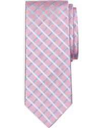 Brooks Brothers Satin Windowpane Tie - Lyst