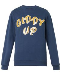 House Of Holland Giddy Upembellished Sweatshirt - Lyst