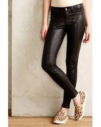 J Brand Leather Skinny Jeans - Lyst