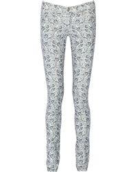 Etoile Isabel Marant Iti Printed Mid-rise Corduroy Skinny Jeans - Lyst