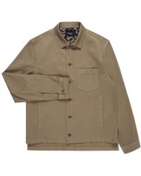 Paul Smith | Washed Khaki Cotton Overshirt | Lyst