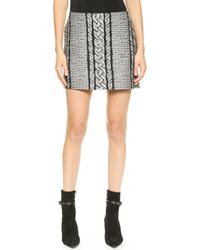 Viktor & Rolf Cable Jacquard Skirt  Black - Lyst