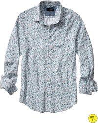 Banana Republic Factory Soft-Wash Floral Print Shirt - Lyst