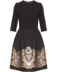 Martin Grant Gold Embroidered Dress - Lyst