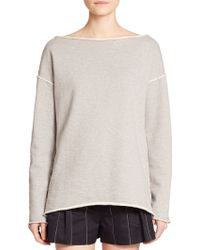 Rag & Bone Drift Cotton Boatneck Sweatshirt - Lyst