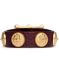 Valentino Gryphon Stud Leather Bracelet - Lyst